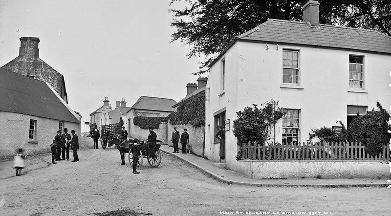Traffic jam in Delgany Village mid 19th century