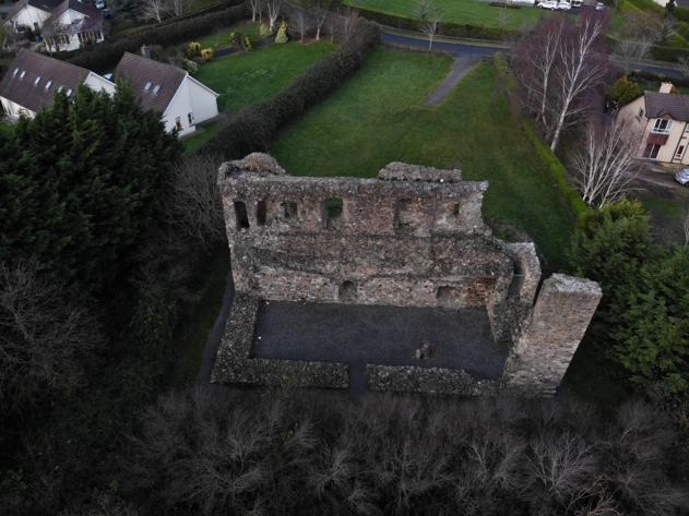 Kindelstown Castle from the air | Breffni Earley