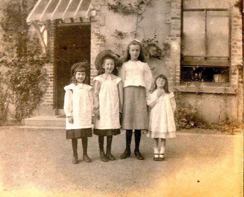 Photo 7.  Children outside the Rectory, Donard 1925