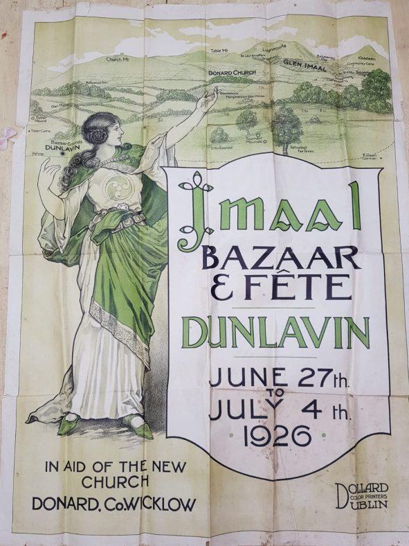 Fundraising poster for Donard church, 1926.   | Photo Donard/Imaal History Group