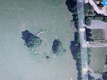 Broadleas stone circle | Google Earth