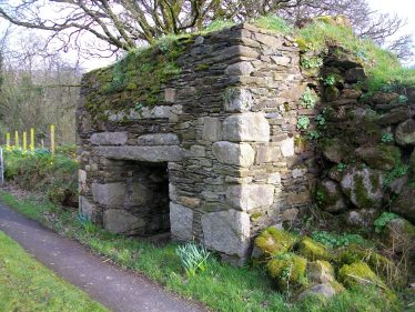 Free-standing Lime Kiln showing loading ramp on right hand side , Athgraney, West Wicklow. | Jim Butler C 2020