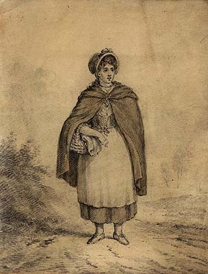 Girl wearing frieze cloak | National Library of Ireland