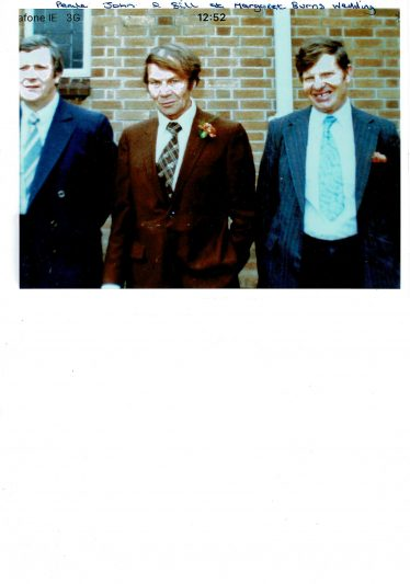 Bill Cullen and his brothers Paul and John at a family wedding | Bill Cullen