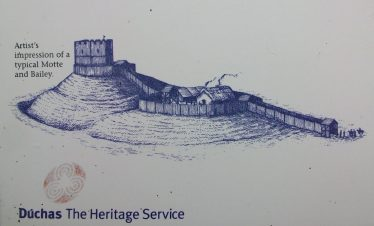 Sketch of typical Motte and Bailey, Castleruddery | Duchas The Heritage Service