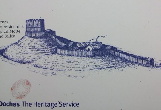 The 12th century Motte and Bailey at Castleruddery