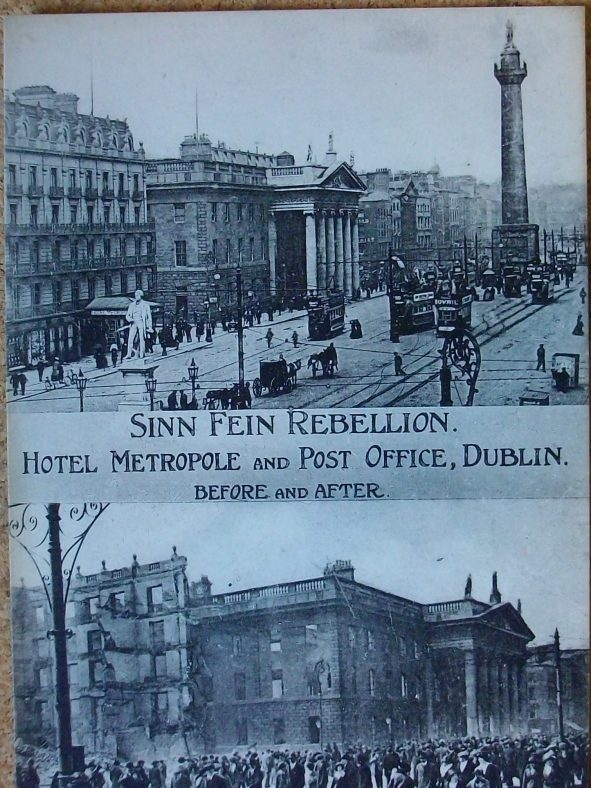O'Connell St, Dublin before/after 1916 uprising | J Butler C 2020