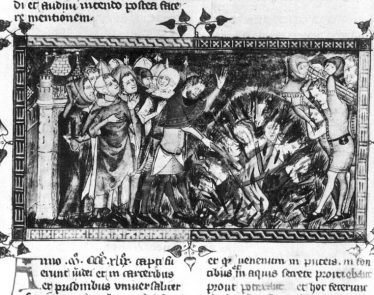 Burning of people during Black Death | Wikimedia commons