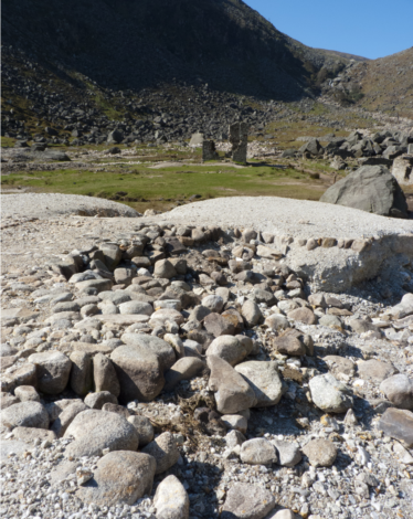 Cobbled dressing floor eroded by storm water at Glendalough | Martin Critchley