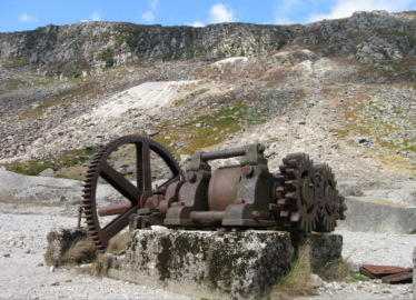 Cornish rolls crusher, Glendalough, one of the finest examples in Britain or Ireland | Martin Critchley