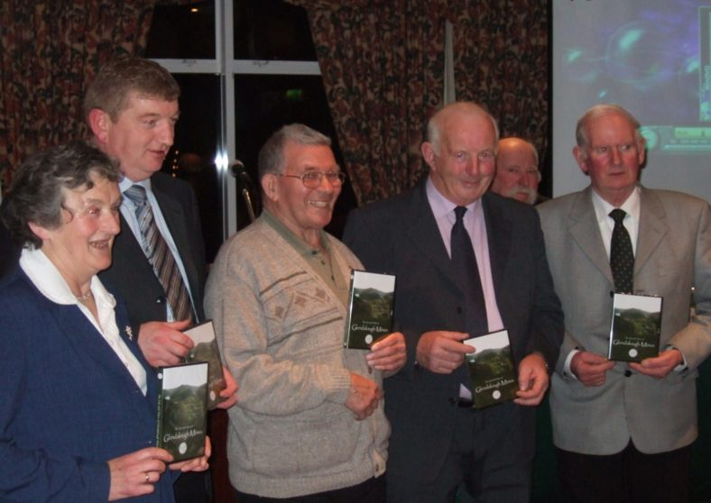 Launch of Glendalough Mining DVD, December 2006. Pictured are Anne Kavanagh, Pat Casey, Toss Toole, Robert Carter, John Conway and Colm Driver | Joan Kavanagh