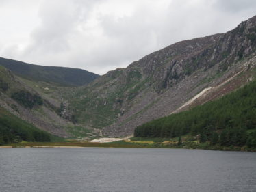 View of the Glendalough Mines, the Zig Zag Pathway and Van Diemens's Land Mine at the head of the valley | Joan Kavanagh