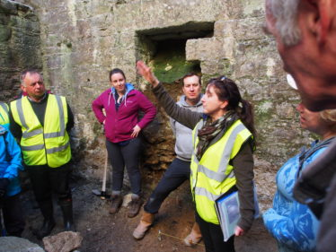 Carmel O'Toole giving the history of the New Crusher House, Open Day | Joan Kavanagh