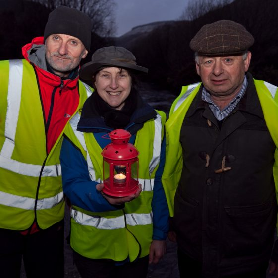 Charles O'Byrne, Carmel O'Toole and Pat Dunne setting off on the 100 Lights Walk | Paul Messitt