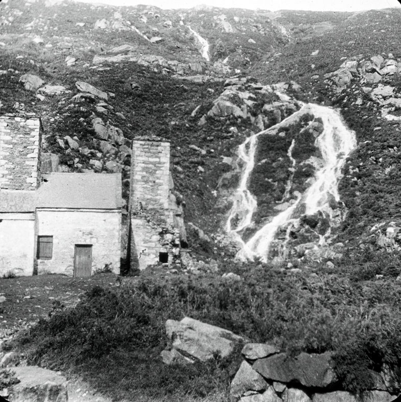Former smelting house at Ballinafunshoge   Image courtesy of National Library (1895)
