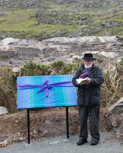 Fr Crotty blessing the Miners' Way at Glendasan   Joe Haughton