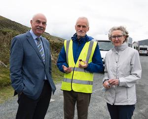 Dave Shepherd, Charles O'Byrne and Pauline Emerson, Miner's Way committee members at Glendasan   Joe Haughton