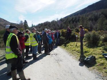 Heritage Officer, Deirdre Burns addressing visitors on the New Crusher House Open Day | Joan Kavanagh