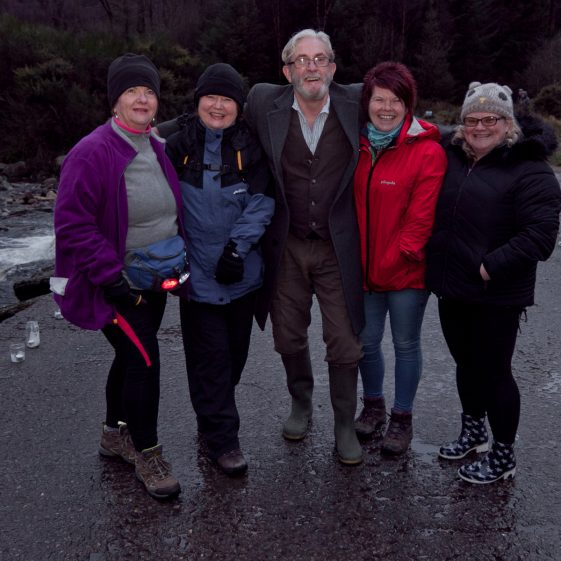 Pauline Cowell, Mary Keegan, Sean Healy, Josie Simpson and Martina Byrne pictured in Baravore car park Glenmalure, at the start of '100 Lights Walk'  | Paul Messitt