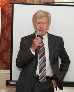 Jim Byrne launching the Miners' Way brochure in the Glenmalure Lodge | Joe Haughton