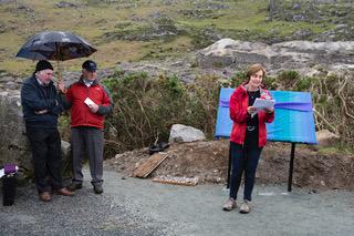Poet Jane Clark reciting her poem Fox Rock Tunnel   Joe Haughton