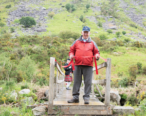 Robbie Carter cutting the ribbon on the Miners' Way Trail | Joe Carter