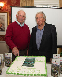 Robert Carter and John Byrne cutting the cake to mark the launch of the Miners' Way | Joe Haughton