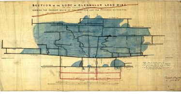 Section of the Lode Of Glenmalure Lead Mines by Thomas Weaver, 1812 | Martin Critchley