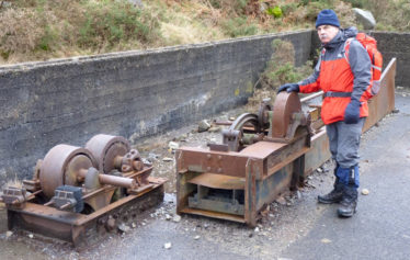 Dave Shepherd at the Crusher, Foxrock Mine, Glendasan