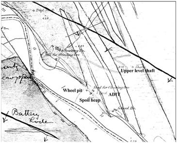 Figure 6 Map showing the Ballinafunshoge Mine and Smelting House