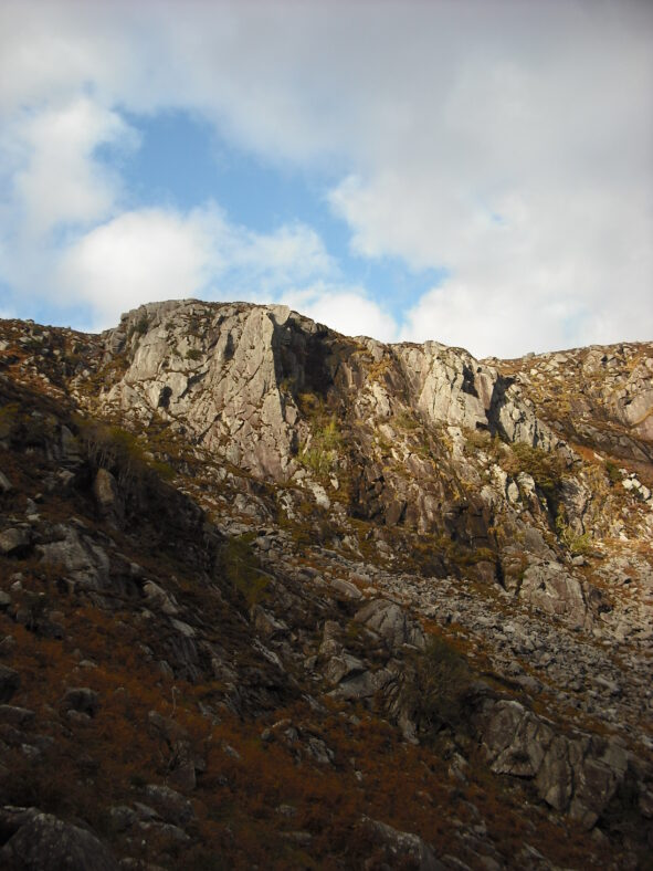 Cliff face in Glendalough Valley from the Zig Zag | Joan Kavanagh