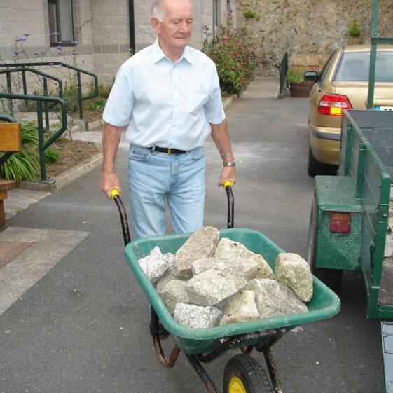 Sonny Byrne bringing in samples of granite for display | Joan Kavanagh
