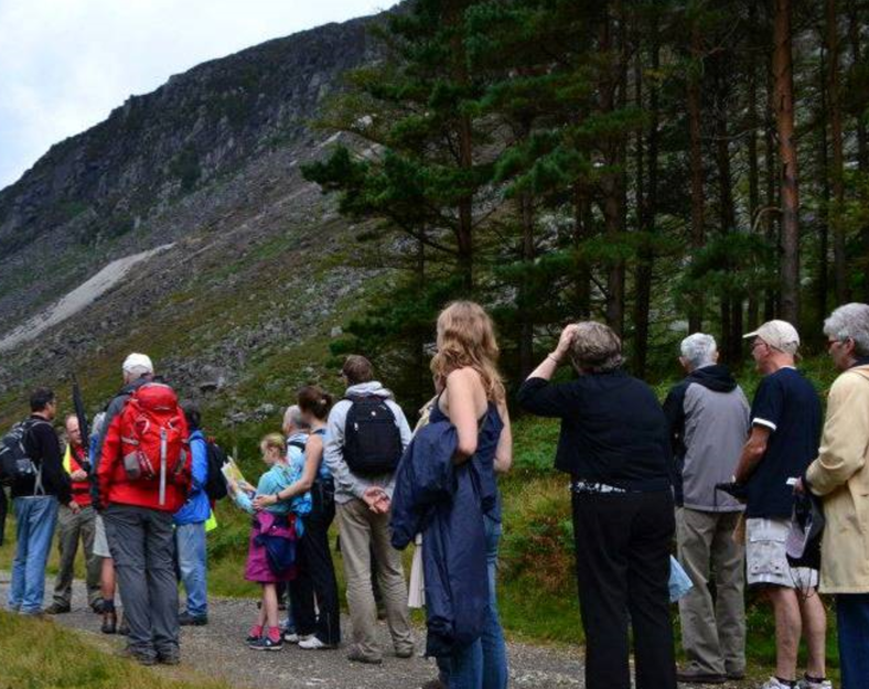 Heritage Week event walk and talk on the way to the Miners' Village, 2012 | Joan Kavanagh