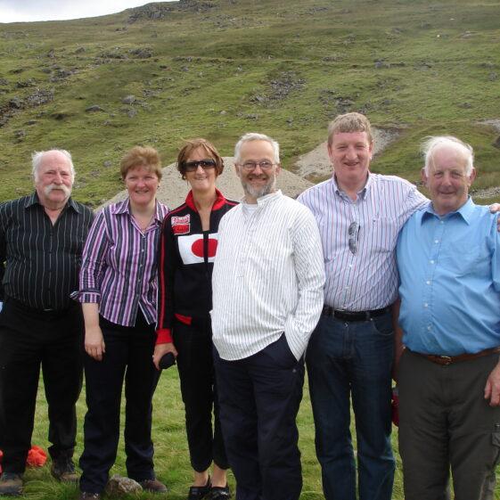 Glendalough Mining Heritage Project Committee members John Conway, Joan Kavanagh, Anne Savage, Zef Klinkerbergh, Pat Casey and Robbie Carter | Joan Kavanagh