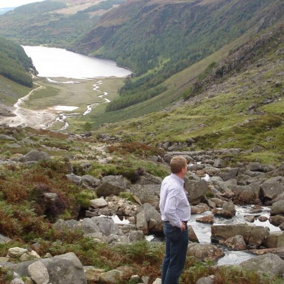 Pat Casey viewing the mine workings at Van Diemen's Land | Joan Kavanagh