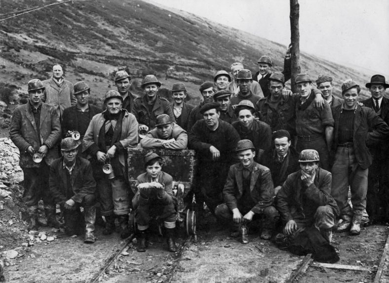 Miners photographed c 1953 | Courtesy of Robbie Carter