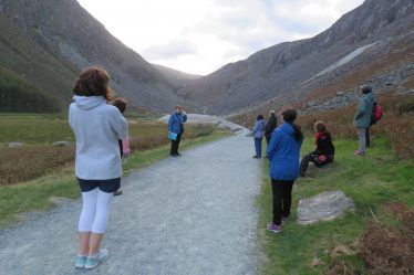 Joan Kavanagh relating the rich mining heritage of the Glendalough Valley | Jane Clarke