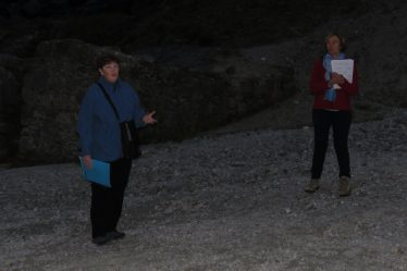 Joan Kavanagh and Jane Clarke at the Miners' Village | Jane Clarke