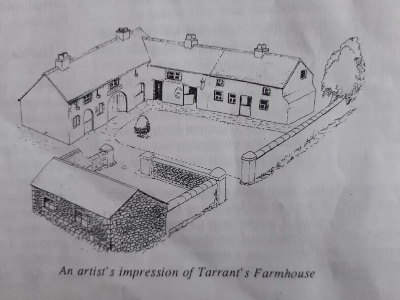 Courtyard, farmhouse and outbuildings as they would have looked in 1710. Restoration time running out.... | Courtesy of Friends of Historic Rathdown