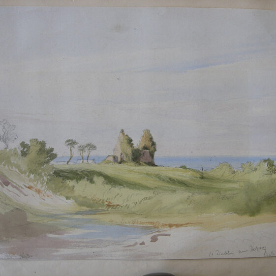 St. Crispin's Cell, Water-colour. Unknown artist.