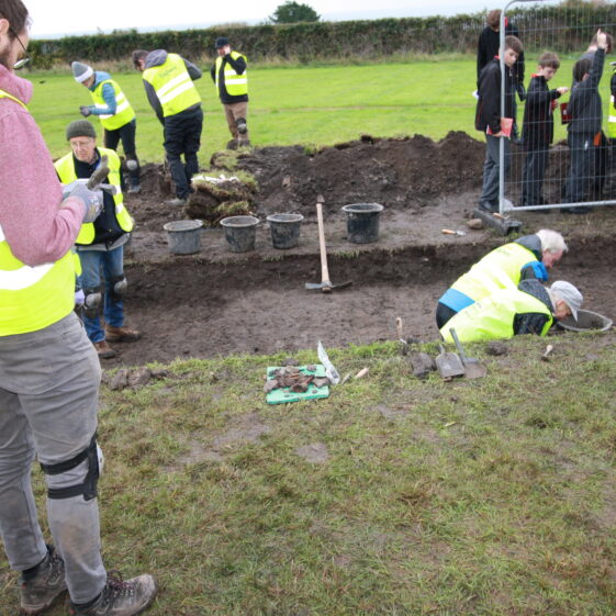 Hive of activity, excavating, monitoring, note-taking | Image by Frank Coyne
