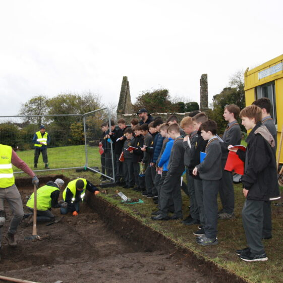 Local school students gaining valuable archaeological insights | Image by Dave O'Reilly