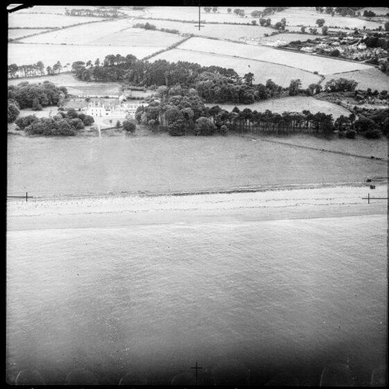 Killincarrick House from the air, 1950's | Courtesy of Irish Air Corps.