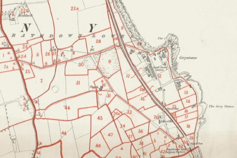 Old Map of the town, only a handful of buildings   Courtesy of C. Love.