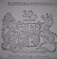 Hawkins-Whitshed coat of arms.   Dohrett's illustrated baronetage, with the knightage, of the United Kingdom of Great Britain and Ireland, Dean & Son, London, 1896.