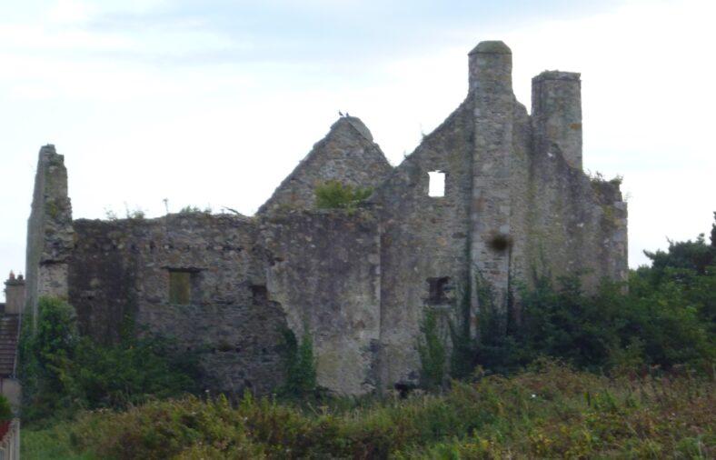 Killincarrig Castle -  east facade.   Image by C. Love
