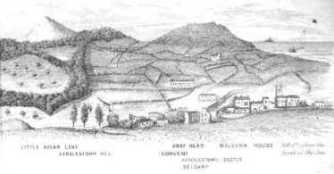 View of Delgany showing Kindlestown Castle.