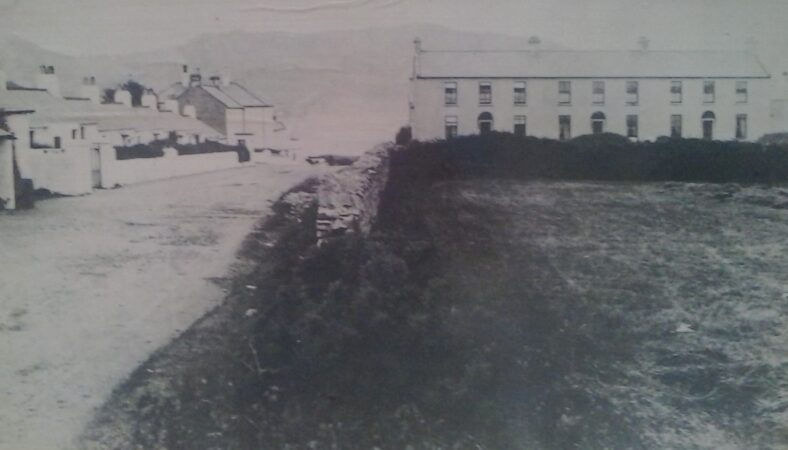 Early Greystones  - this site on Trafalgar Road was destined to become the Grand Hotel, later known as the La Touche Hotel.   Pictorial History of Greystones, 1855-1955, A collection of old photographs, compiled by Derek Paine, Martello Press 1993, page 17.