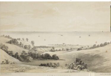 Templecarrig, with view towards Rathdown. | By H. Mc Manus (artist), E.J. Harty, lithographer, produced between1856 and 1863, National Library of Ireland, digital archive.