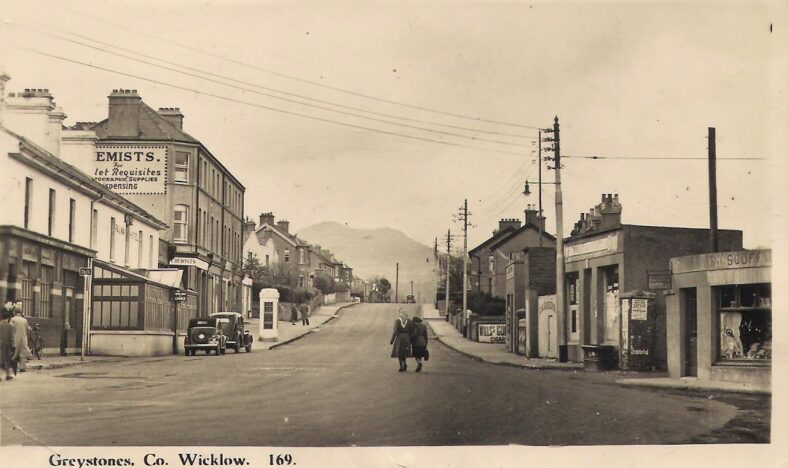 Rush hour on Church Road   Old postcard.